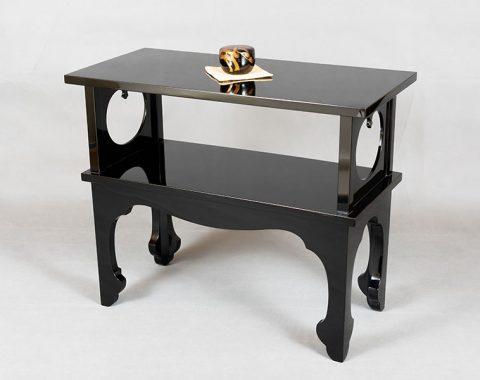 新潟塗り 二段卓 黒絽色サムネイル