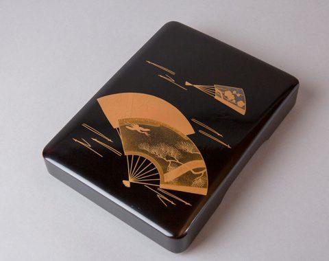 越前塗り 硯箱 扇面蒔絵サムネイル